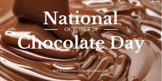 NATIONAL CHOCOLATE DAY – October 28 | National Day Calendar