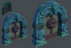 Gate, Anastasia Deliukina on ArtStation at https://www.artstation.com/artwork/knekn