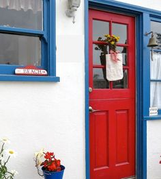 Beach Cottage in Red, Blue and Yellow – Beach Bliss Living - Decorating and Lifestyle Blog