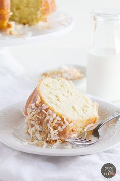 Nice and moist with the perfect crumb, this Crazy for Coconut Bundt Cake is perfect for coconut lovers!