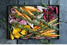 Try this root vegetable roast tray as a side dish to a bbq, or a vegetarian meal on its own! Easy and healthy! Recipe by Ilse van der Merwe.