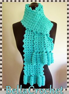 BellaCrochet: Curlicue Cutie Scarf; A Free Crochet Pattern For You