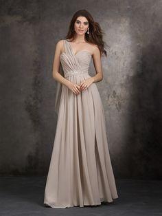 03562367566 Allure Bridal Style  1407 -Chiffon with crystal beaded sash