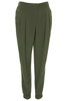 Wrap Front Jogger Trousers - Topshop