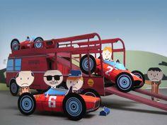 School Forms, Paper Car, Paper Magic, Ferrari F1, F1 Racing, Paper Models, Fiat, Old School, Paper Crafts