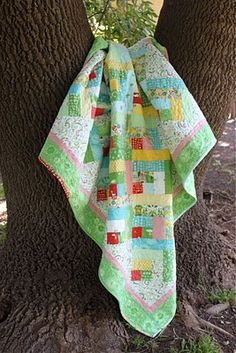 Another fun, bright quilt from Moda bakeshop!  Perfect for the new Flora print I just bought.