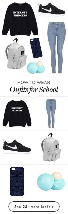 School outfits by idtsen on Polyvore featuring moda, Joshua's, Samantha Warren London, Topshop, NIKE…