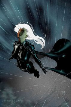 """comic-books: """"Storm illustration by Thor Badendyck. Marvel Comics, Marvel Vs, Storm Marvel, Marvel Women, Marvel Girls, Marvel Heroes, Storm Comic, Comic Book Characters, Comic Book Heroes"""