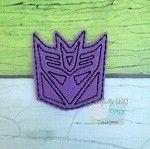 Decepticon feltie embroidery design