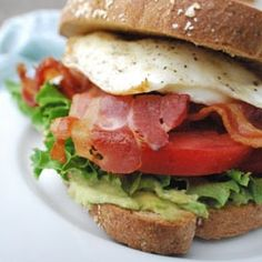 BLEAT: Bacon, lettuce, egg, avocado, tomato sandwich.