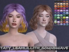 LeahLillith Soundwave Hair Retexture by Taty86 at SimsWorkshop via Sims 4 Updates