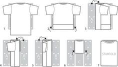 схема складывания футболки - Поиск в Google