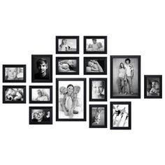 Fotomuur kant & klaar - 15 fotokaders zwart - S41VH2 WALL1