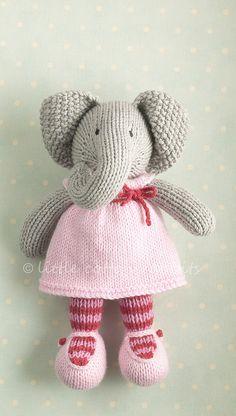 Little cotton rabbits Knitted Stuffed Animals, Knitted Bunnies, Knitted Animals, Knitted Dolls, Crochet Toys, Knitting Patterns Free Dog, Free Knitting, Baby Knitting, Little Cotton Rabbits
