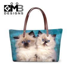 Cute Cat Shoulder Handbag for Teen Girls Female Large Tote Bags Summer One Side Bag for Women Hand Bag Handle College Bookbags