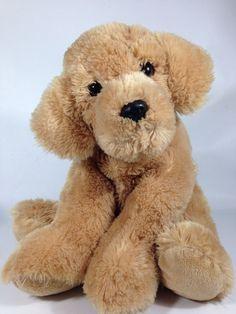 Aurora Golden Doodle Retriever Plush Lab Puppy Dog Sitting Soft Stuffed Animal  #Aurora