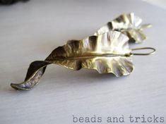 foglie ottone orecchini ottone foldforming,forgiatura