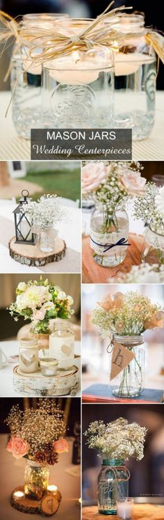 100 Ideas For Amazing Wedding Centerpieces Rustic (152)