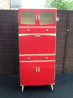 Vintage Retro 1960s Kitchen Larder Unit Cupboard By Remploy