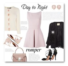 """""""Day to Night: Rompers"""" by bliznec ❤ liked on Polyvore featuring Alexander McQueen, Karen Millen, Loyd/Ford, Aquazzura, Monica Vinader, DayToNight, romper and polyvorecontest"""