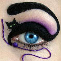 Black cats may be unlucky but I love this creative eye from MUA Tal Peleg #beauty #makeup #mua #cat #blackcat #bblogger #bbloggers #natural #organic #green #lanolin #drlipp