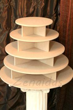 Cupcake Stand  5 Tier Round 180 Cupcakes by Zenaidas4urLilAngels, $69.00
