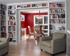 estante de livros parede