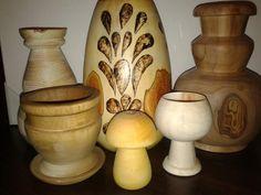Pasjonaty Małgorzaty: Drewniane twory Candle Holders, Vase, Candles, Home Decor, Decoration Home, Room Decor, Porta Velas, Candy, Vases