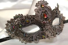 Beautiful Lace Masquerade Mask Venetian by MasquerademaskStudio, $27.95