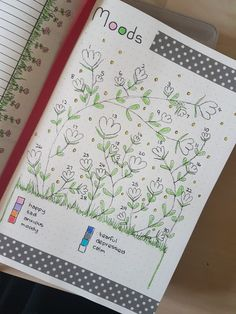 Bullet Journal - mood tracker for June