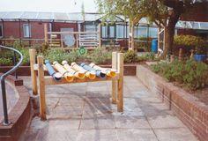 Instruments for outdoor playgrounds, percussion, sound sculptures in oak framework. Outdoor Playground, Playground Ideas, Sound Sculpture, Music Garden, Sensory Garden, Playgrounds, Music Education, Childcare, Garden Bridge
