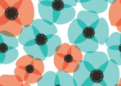 Free summer-themed seamless patterns for blog or twitter backgrounds or desktop wallpapers