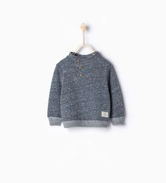 Sweatshirt with buttons and elbow patches-MUST HAVES-Baby boy | 3 months - 3 years-KIDS | ZARA United States