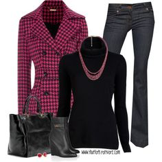 Pink and Black Casual