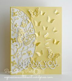 Delicate Butterfly Arch Thank You by stampit74 - Cards and Paper Crafts at Splitcoaststampers