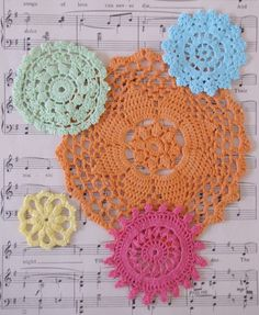 hand dyed doilies