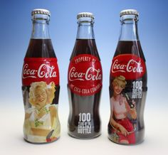 100th Anniversary Commemorative Trio Coke Bottles Coca Cola Japan NEW Full #CocaCola