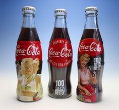 100th Anniversary Commemorative Trio Coke Bottles Coca Cola Japan NEW Full #CocaCola