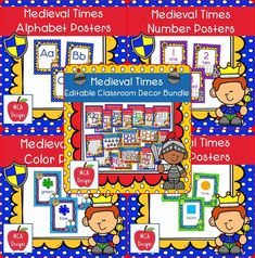 Check out my Medieval Times Editable Classroom Décor Bundle features all you need to create a fresh new look for your classroom this fall! Check out the preview for a quick look at this colorful theme.   518 pages   My Medieval Times Classroom Décor Bundle features my ENTIRE Medieval Times collection including several editable features!  #mca3deigns #tpt #teacherspayteachers #classroomdecor #classroomtheme #bundle #classroommanagement #backtoschool #editable #elementary