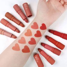 Makeup Kit, Lip Makeup, Makeup Cosmetics, Beauty Makeup, Cute Makeup, Pretty Makeup, Peach Makeup, Batons Matte, Asian Makeup