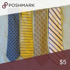 Bundle of 4 men's neck ties Bundle of 4 men's neck ties. Used but in good condition. All 100% silk. Accessories Ties