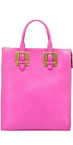 Sophie Hulme Soft Buckled Zip Tote Bag