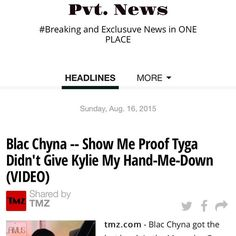 #BlacChyna #Tyga #KylieJenner Pvt. News http://ift.tt/1CeNjph #PvtNews Or Google #PvtNews