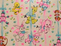 Vintage Gift Wrapping Paper  Baby Shower  by TheGOOSEandTheHOUND, $6.00