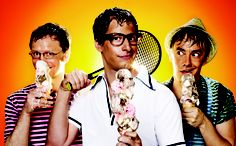 Lonely Island  hahaha ermagherd. Andy samberg's hair looks so good like that.