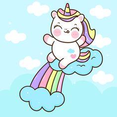 Unicorn Wallpaper Cute, Hello Kitty Iphone Wallpaper, Cute Panda Wallpaper, Wallpaper Iphone Cute, Kawaii Wallpaper, Cute Unicorn, Unicorn Art, Cute Cartoon Girl, Simple Cartoon