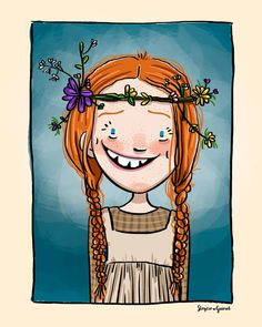 Flower Background Wallpaper, Rainbow Wallpaper, Girl Cartoon, Cartoon Art, Graphic Design Illustration, Illustration Art, Anne White, Serpentina, Anne With An E
