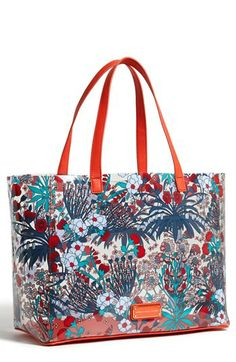 vacation please- MARC BY MARC JACOBS Transparent Floral Print Tote available at #Nordstrom