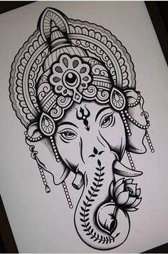Lord Ganesha Lord Ganesha Kavipriyaram Ganesha tattoo This is lovely I d love to have the shirt buddha quote inspirational quotes words nbsp hellip Ganesha Sketch, Ganesha Drawing, Lord Ganesha Paintings, Ganesha Art, Buddha Drawing, Ganpati Drawing, Girl Drawing Sketches, Doodle Art Drawing, Cool Art Drawings