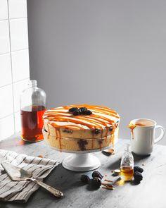 Blackberry and Bourbon Caramel Cake — a Better Happier St. Sebastian